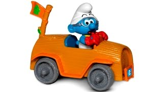 Игрушечные Супер Истории - Смурфики и гонки на машинках -  Видео с игрушками