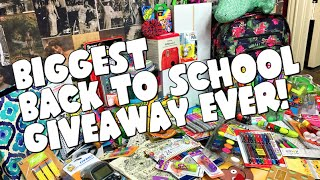 BIGGEST BACK TO SCHOOL GIVEAWAY EVER! 2016 thumbnail