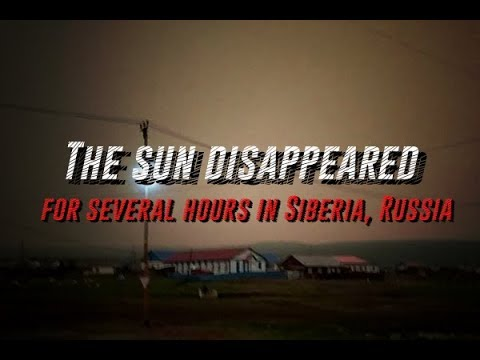 The sun disappeared for several hours in Siberia, Russia 2018