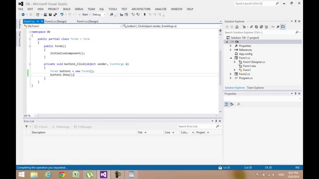 How to open a new form in form with a button c# - Visual studio ...