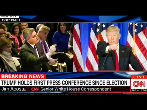 WATCH: Trump Scolds CNN Reporter At Press Conference - YouTube
