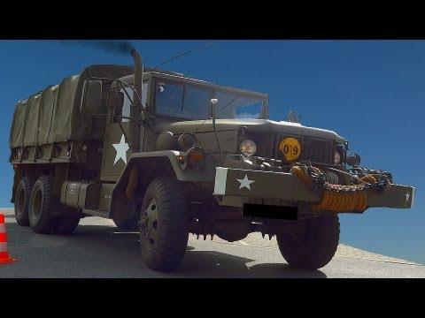 Reo m35 6x6 us military truck sound
