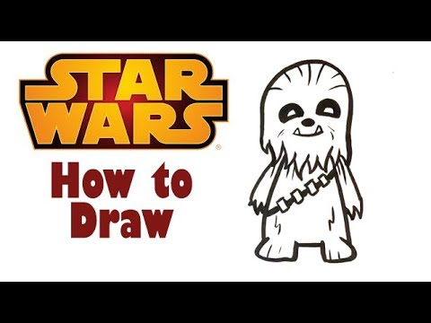How to Draw Cute Chewbacca Star Wars / Solo Easy Pictures to Draw YouTube