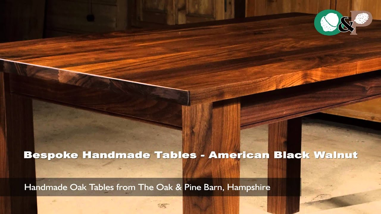 Bespoke Handmade Tables   American Black Walnut Table