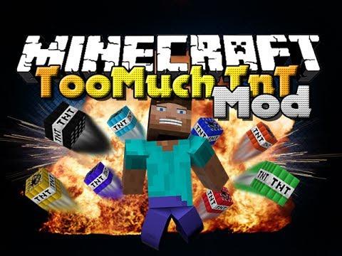 Minecraft Mod - Too Much TnT Mod - New TNT Types