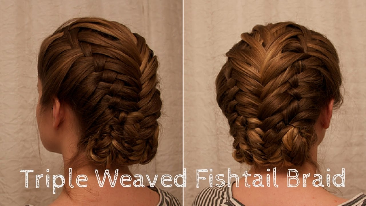 Triple Weave Fishtail Braid Inspired By The Series Tut Youtube