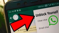 How to Unblock Yourself on WhatsApp ? ✔