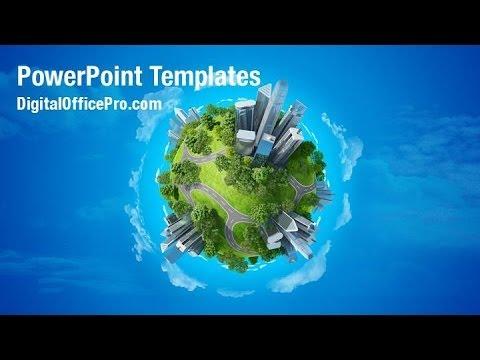 mini planet powerpoint template backgrounds - digitalofficepro, Presentation templates