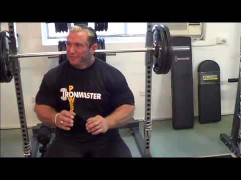 Lee Priest training on Ironmaster IM2000 Smith Machine