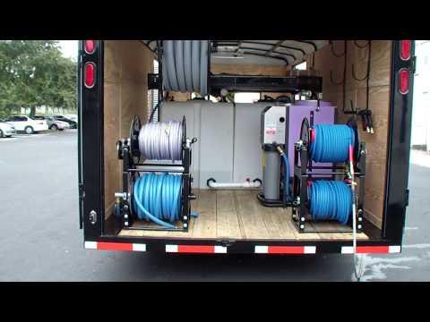 Enclosed hot water pressure washer trailer Hydro Tek 3500 PSI @ 9 GPM 30HP pressure washer & AZV88