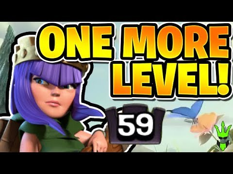 SO CLOSE TO A MAX QUEEN! - Upgrading Queen to Level 59! - Clash of Clans