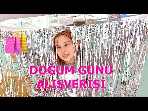Doğum Günü Partim İçin Alışveriş Vlog Ecrin Su Çoban