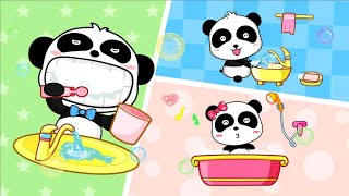 Baby bus games | baby panda daily's life | preschool school learning for child