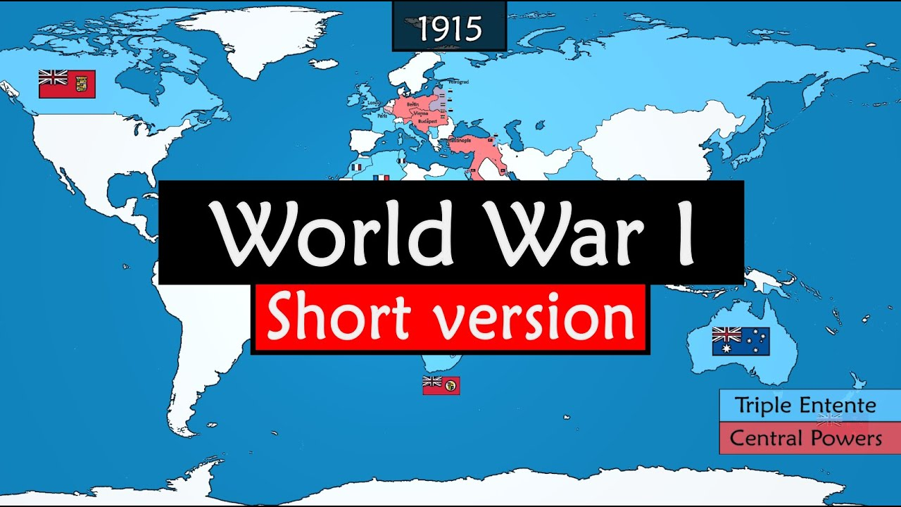 World War I - summary of the