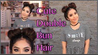 Cute Double Bun Hair Tutorial