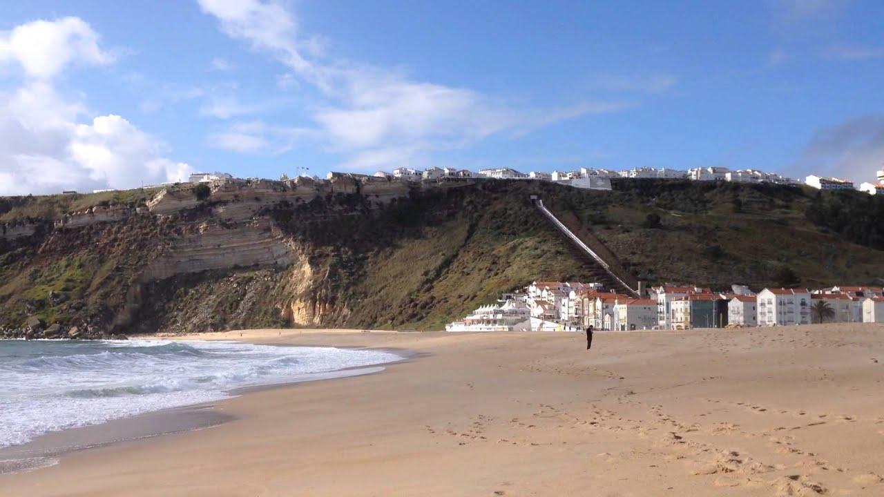 Taking A Walk On The Beach Nazaré Portugal
