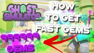 Ghost Simulator 👻 HOW TO GET GEMS FAST in Roblox Ghost Simulator