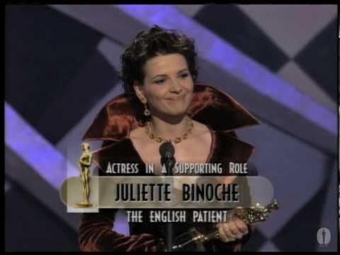 Juliette Binoche winning Best Supporting Actress