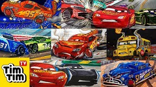 How-to-draw Gallery 2017 of Tim Tim TV | draw Cars 3, McQueen, Cruz, Storm, Miss Fritter . . .