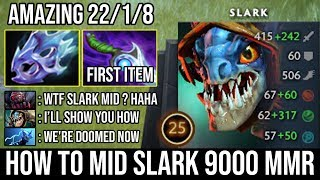 How to Ez Mid Slark Like a 9000 MMR | Non-Stop Hunting Food + 220 Attack Speed Max Agi Vs Pro Brood