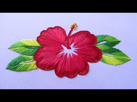 Hand Embroidery | China Rose Embroidery | Hand Embroidery Designs #18