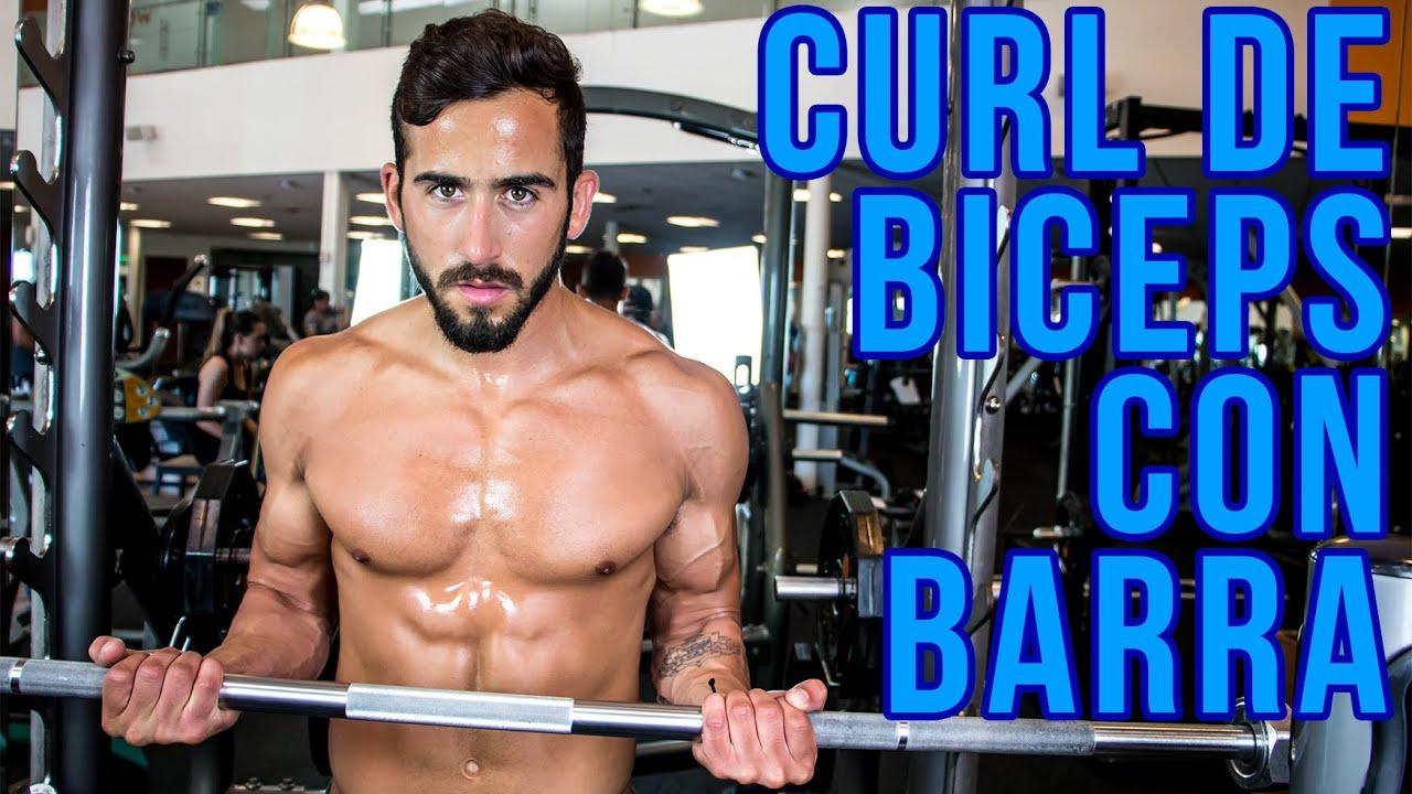 ejercicios con barra para brazos