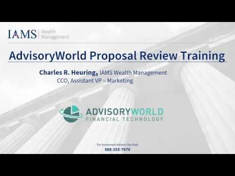 AdvisoryWorld Proposal Review Training