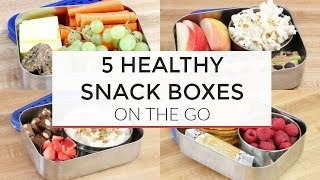 5 Easy Healthy Snack Boxes for On-The-Go