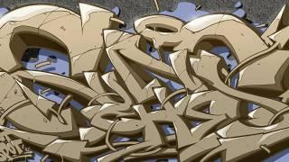 Sasha Sunches graffiti on Procreate app