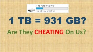 1 TB is equal to 931 GB? Are they cheating on us?