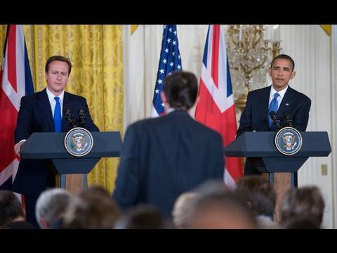 President Obama and Prime Minister Cameron at the White House