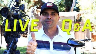 Live Golf Show #23 🔴 Today Q & A, PGA Tour, Technology, Golf Tips and Drills.