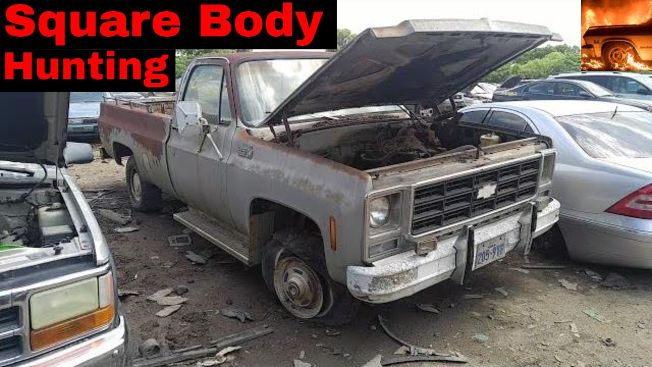 Square Body Junk Yard Hunting