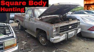 Square Body Junk Yard Hunting