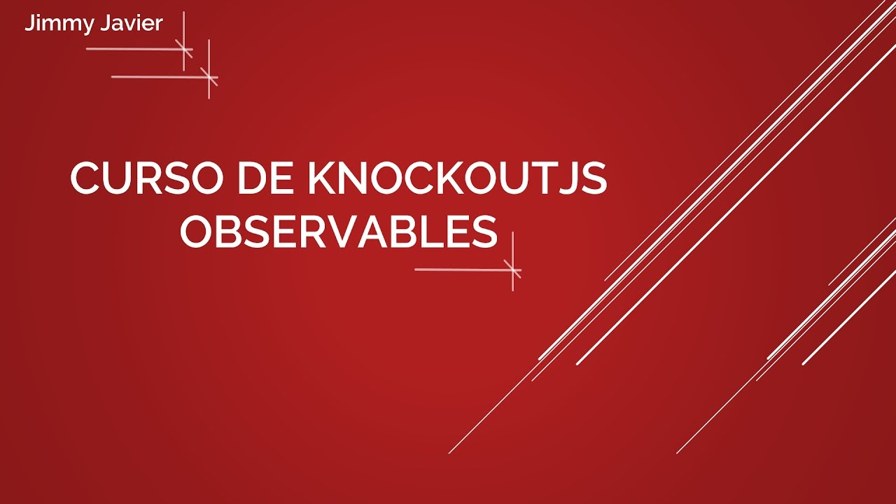 Curso de KnockoutJS: Observable. - YouTube