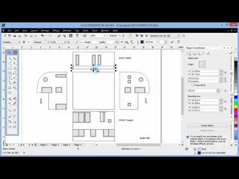 Tutorial Coreldraw Drawing To Scale In Corel Designer X6 Youtube