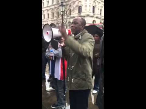 Gambians in UK for Peace and Justice protested London 20th February 2016