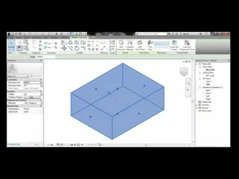 Creating Simple MEP Family (e g  Water Tank Family) - YouTube