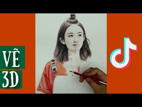 Đỉnh cao vẽ chân dung 3D  🎨 Tik tok Trung Quốc