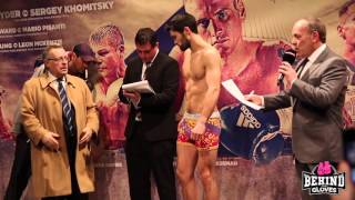 Groves vs Di Luisa UNDERCARD weigh in HIGHLIGHTS
