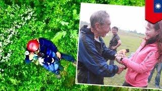 落下傘の日本男性 台湾で救助