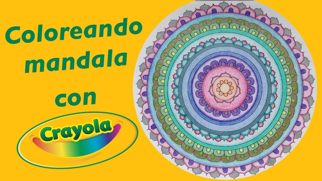 Coloreando mandala con colores crayola stephanievlog - Mandalas en colores ...