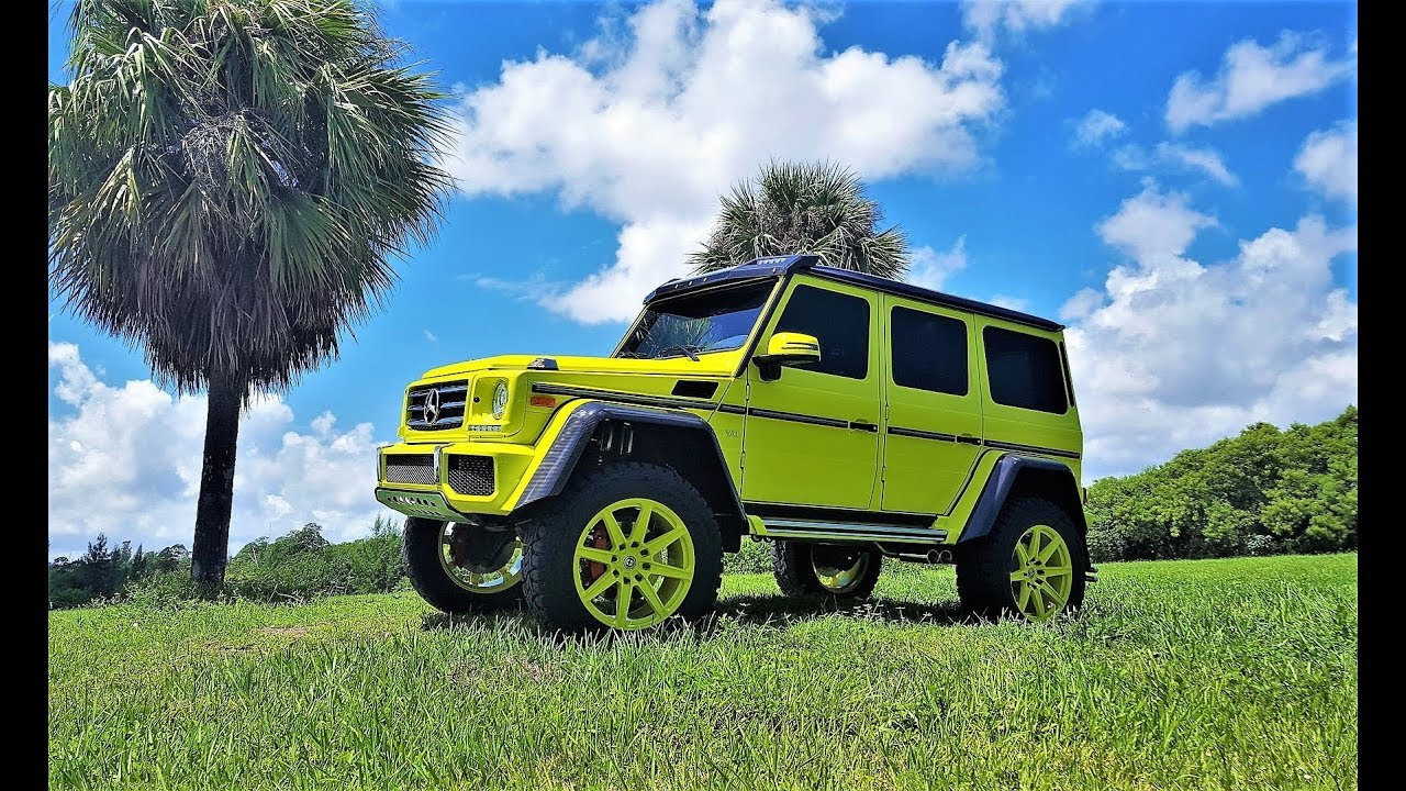 Mercedes Benz G550 4x4 Electric Beam Monster On Hre Wheels At Prestige Imports Miami