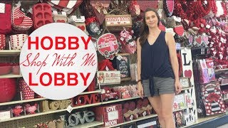New at Hobby Lobby Valentines Day 2019 Shop With Me! + Home Decor + Spring!