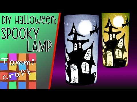 How to Make a Spooky Halloween Lamp - Haunted House Silhouette Lantern