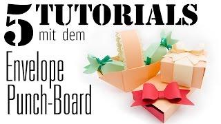 5 Tutorials mit dem Envelope Punchboard | DEUTSCH