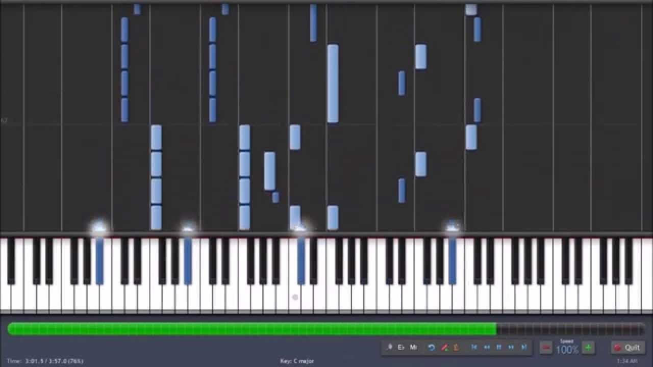 Lullaby For A Dead Man On Piano Synthesia Tutorial Youtube
