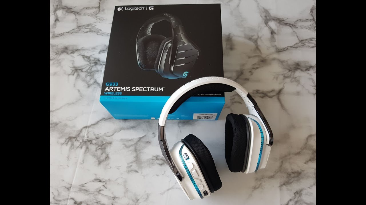 Unboxing Logitech G933 Black and White headset (Muted video)