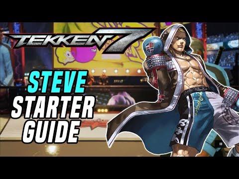 [TEKKEN 7] 5-Minute STEVE Combo / Starter Guide! (Notations On Screen)
