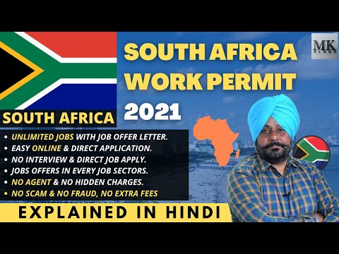 SOUTH AFRICA Work Permit 2021 | South Africa Jobs / Work Visa apply | South Africa Work Visa 2021